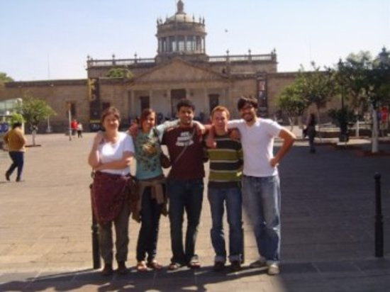 IMAC Spanish Language Programs: City Talk Class outside of the Instituto Cultural Cabañas.