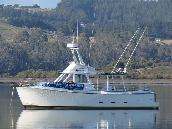 Northland Region, New Zealand: Vessel 'Asterix' waiting for you to come aboard for a fun fishing trip