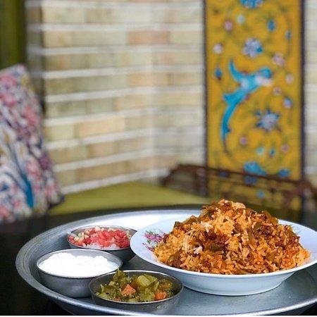 لوبيا پلو Persian rice with green beans