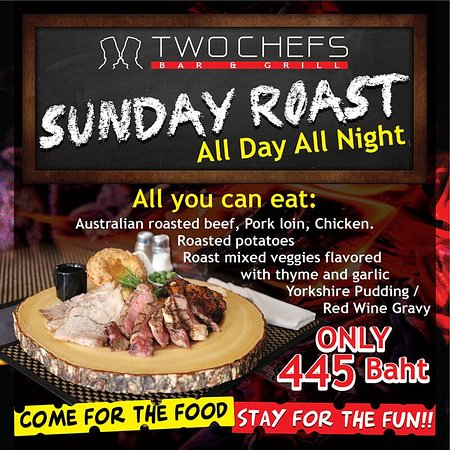 All You Can Eat Traditional Sunday Roast