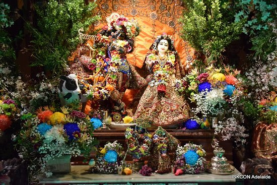 Lord Krishna and Goddess Radha - Picture of ISKCON Adelaide