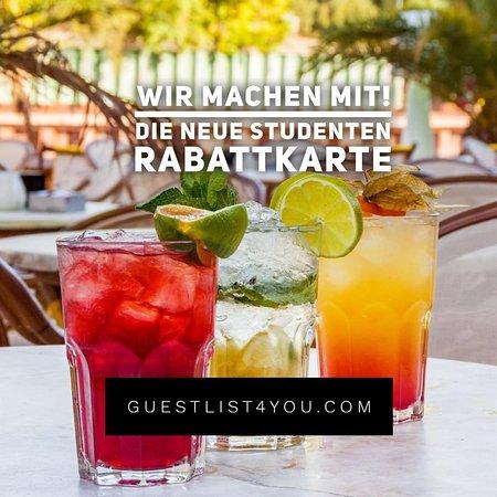 Jeden Sonntag und Montag!🎉 Für alle Studenten, welche @guestlist4you Member sind: gibt es den ganzen Tag Happy Hour auf alle Cocktails!