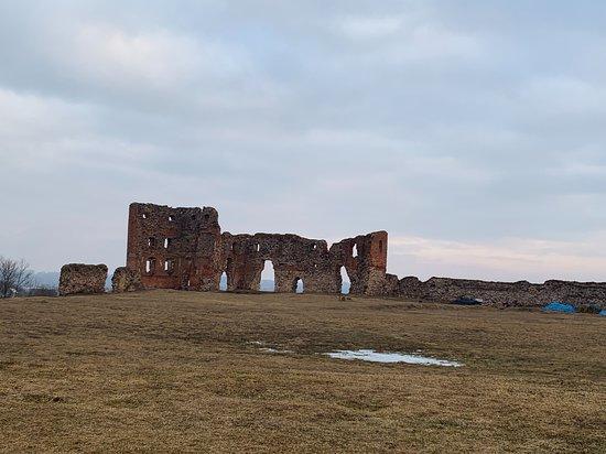 Ludza Medieval Castle Ruins: руины, дальняя стена