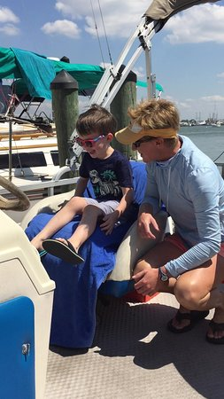 FMBeautiful Bay Company: Capt. Kelly with our grandson