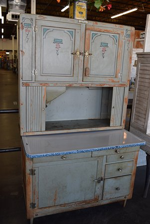 Antique kitchen Hoosier style cupboard