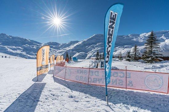 Oxygene Ski & Snowboard School : Le jardin Oxygene aux Menuires