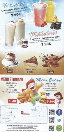 Noisy-le-Grand, Franciaország: menu