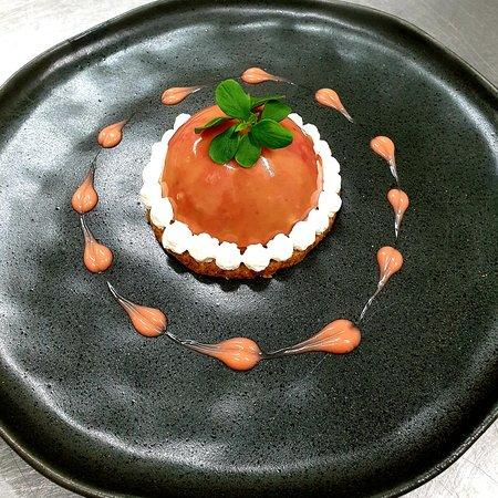 Sablé et son dôme au chocolat orange sanguine