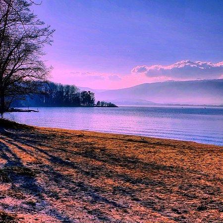 Beautiful lake of Neuchâtel in Switzerland🇨🇭. View from Yvonand. Enjoy ! Superbe lac de Neuchâtel en Suisse. Magnifique plage ! Che bel lago nella Svizzera ! Il lago di Neuchâtel !
