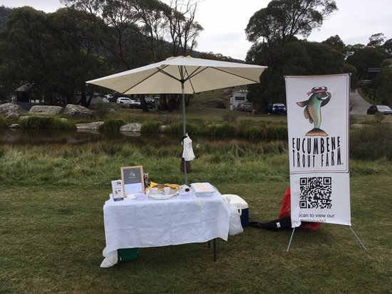 Eucumbene Trout Farm: To market to market, during March we have been at the Dalgety show 75 years young, Thredbo food and wine festival and Savour Autumn at Lake Crackenback where Karen held a masterclass on trout 3 ways. Awesome love to see you there.