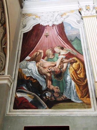 Scena di Giuditta e Oloferne