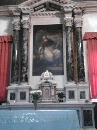 The altarpiece by Tiziano Vecellio depicting San Giovanni Elemosinario