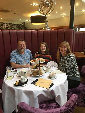 Afternoon tea in the main restaurant