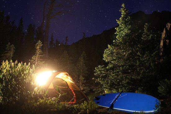 Sumpter, Oregon: Camp and SUP at night. Ontario Board Shack