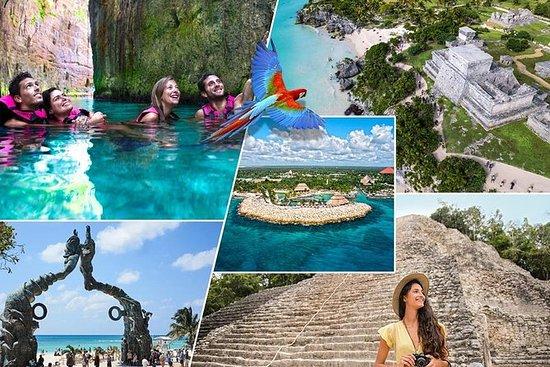 Xcaret Plus和Coba  -  Tulum  -  Cenote...
