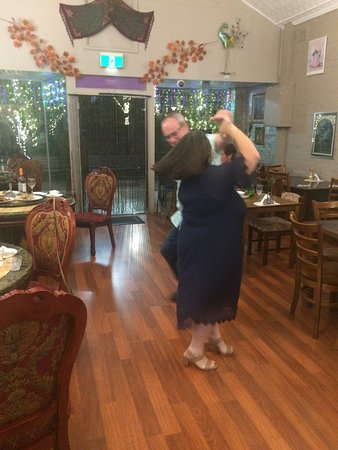Tenterfield Viet-Thai Lic.Restaurant: Wild Cherry' all time hit 'Play that funky music' got Greg and Marilyn to hit the dance floor after dinner. Visit us or book your function or event with us now.