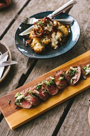 Nicol's Paddock: Seared Beef with Cauliflower Bacon & Cheese.