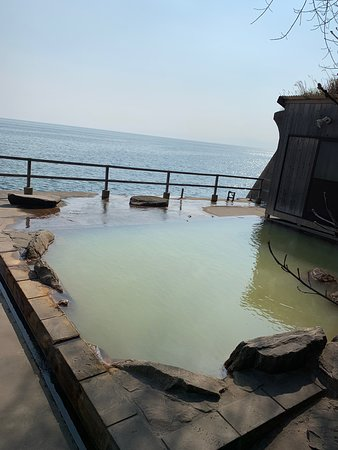 Sakurajima Seaside Hotel: 鹿児島シーサイドホテルに行ってきました。 目の前に海が広がる絶景の露天風呂!