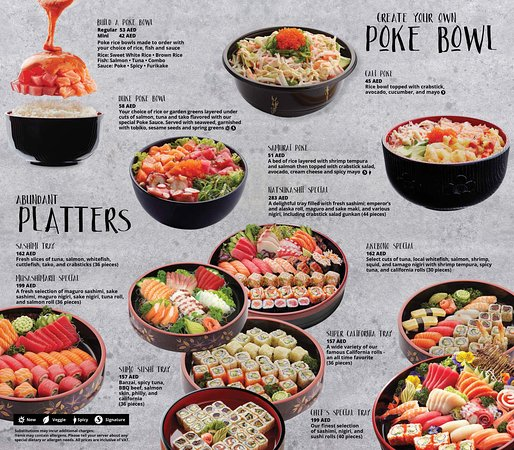 Platters and Poke! Platters are always best because they're shared with friends and great memories!