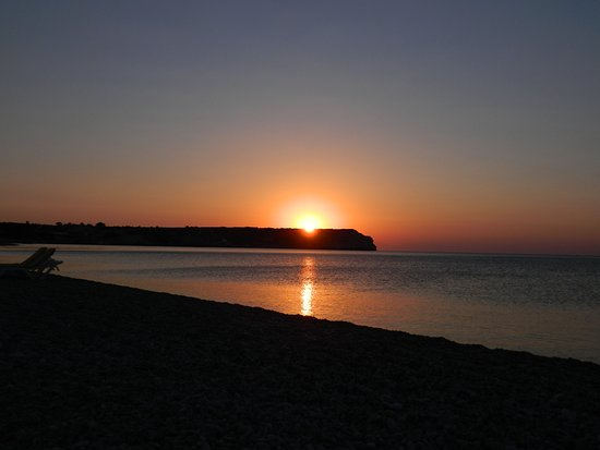 Rodos, Grčka: Alba sulla spiaggia a Rodi in Grecia