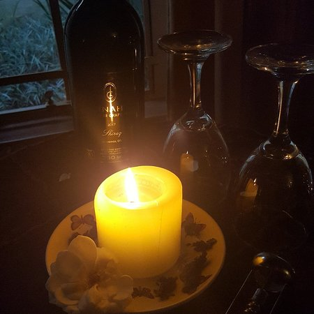 Boerechef: Romantic Candle light dinners. Served in the private romantic honeymoon suite.