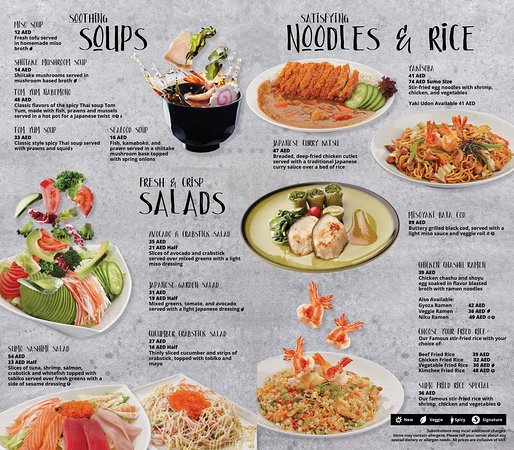 Keep your tummy quiet with any of our Soups, Salads, Noodles and Rice.