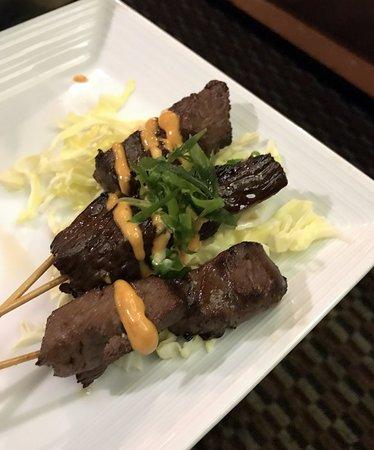 the grilled Korean beef skewers