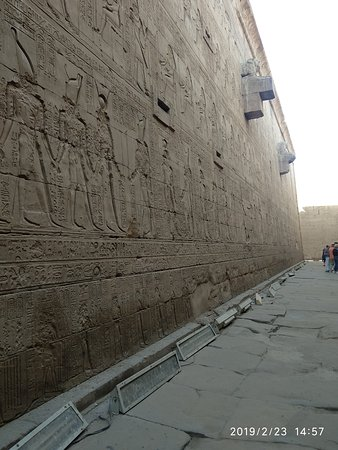 Relief carvings at the Passage of Victory