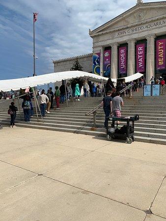 Huge line at entry