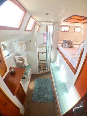 Queen ensuite stateroom starboard side stern