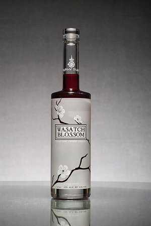Wasatch Blossom Utah Tart Cherry Liqueur: Zero refined sugar, local Montmorency Tart Cherries, bottled at 64-proof.