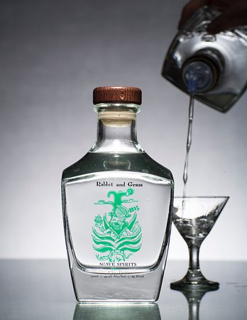 Rabbit and Grass Blanco Agave Spirits: fermented, distilled and bottled on-site at New World Distillery in Eden, UT.  Available state wide and at the distillery.