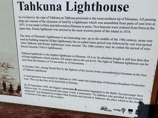 информационный стенд - Picture of Tahkuna Lighthouse