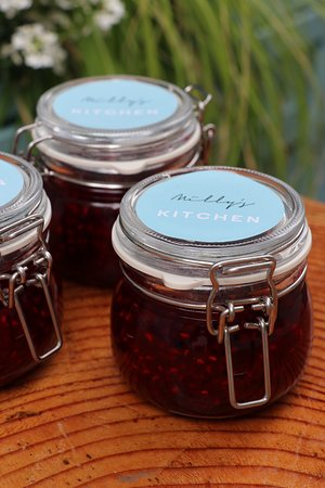 Homemade raspberry and bramble jam for sale