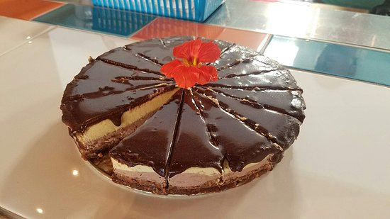 In The Raw: Double chocolate orange cheesecake