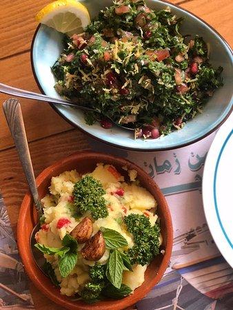 Tabolah and Mashed potatoes