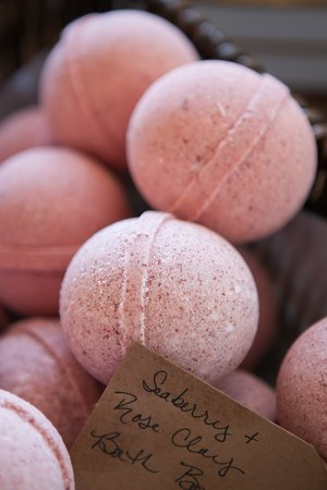 Seaberry + Rose Clay Bath Bombs.