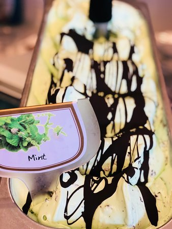 Mint with Chocolate .