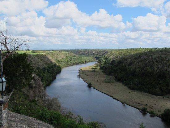 La Romana, Dominik Cumhuriyeti: Looking towards on of the golf courses