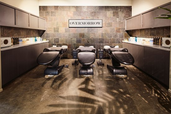 OVM Lifestyle Salon & Store: The most upscale and attentive service leads to an unforgettable beauty and wellness experience. Our shampoo beds are fully retractable, helping your neck and back stay as comfortable as it should be during your service.