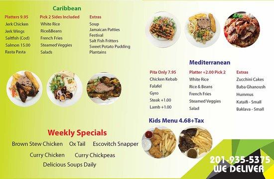 New Short Menu.  See full menu at www.jerkandgyro.com.