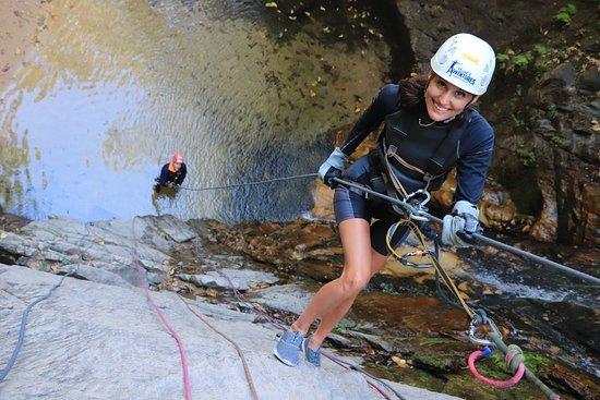 Puerto Vallarta Outdoor Adventure Zip Line and Speedboat Ride: The 1st repel down the waterfall