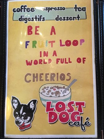 Interesting philosophy - Picture of The Lost Dog Cafe, Binghamton