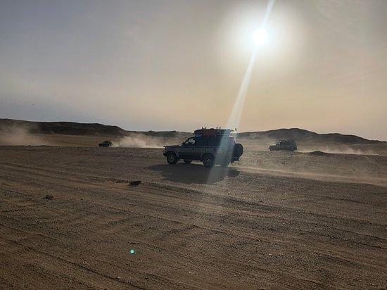 Amazing white desert overnight!