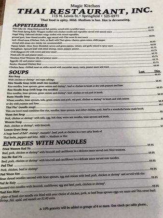Magic Kitchen Springfield Restaurant Reviews Photos Phone