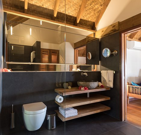 Our renovated bathrooms, inspired by the volcanic nature of the islands