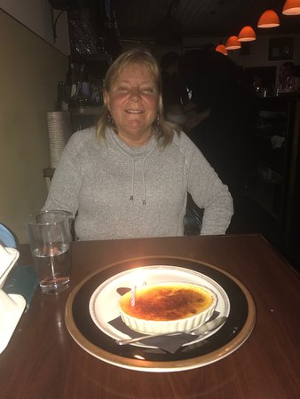 creme brulee to celebrate a birthday