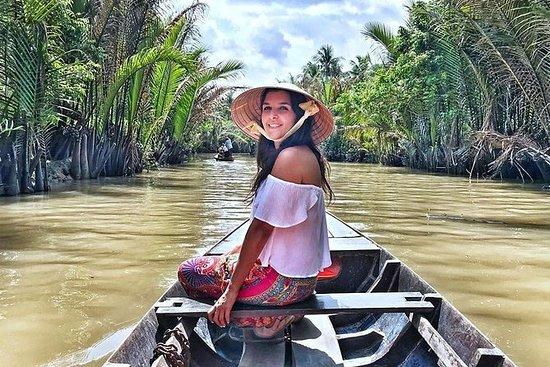 湄公河三角洲一日游,皮划艇,烹饪班和Cai浮动市场