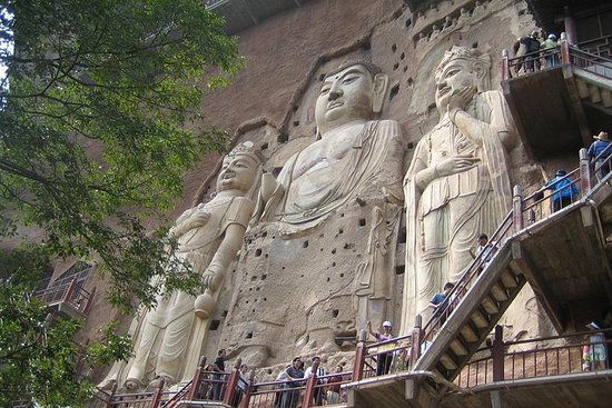 Private Tianshui Half Day Tour to Maiji Mountain Grottoes