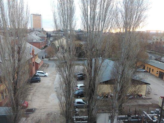 Rila Hotel: Вид из моего номера, территория спорткомплекса